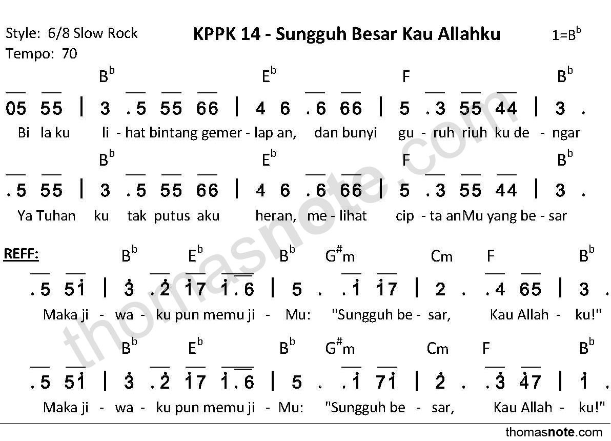 KPPK-14-Sungguh-Besar-Kau-Allahku How Great Thou Art Chords Piano @bookmarkpages.info